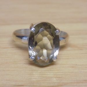 Jewelry - Sterling Silver Oval Ring Size 7.5
